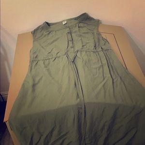 Knee length green dress